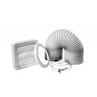 Kit coifa/secadora D12,5x300cm